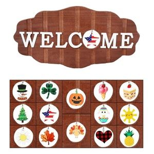Welcome sign decoration Christmas decor